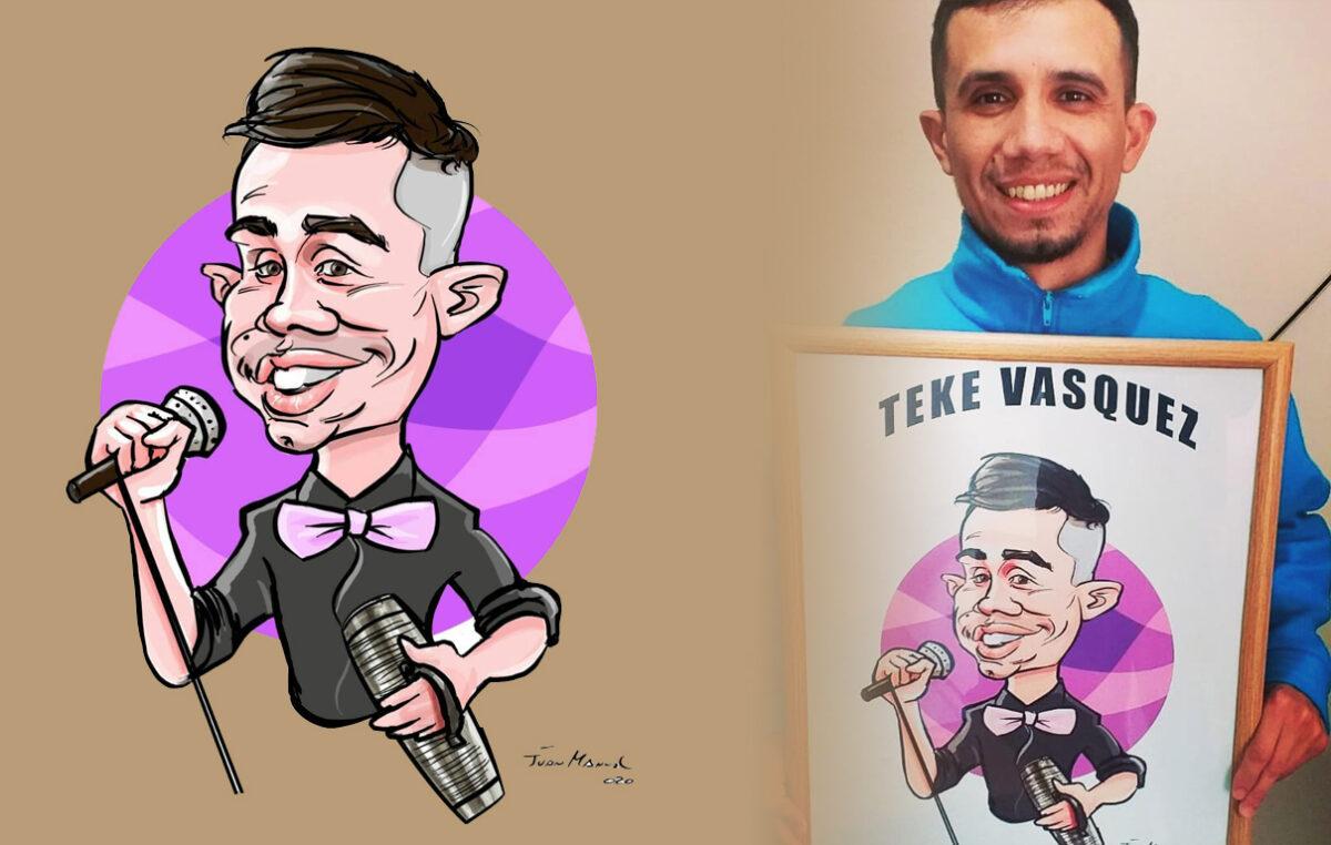 "Hoy 21 hrs ""Teke Vasquez"" en el canal local"