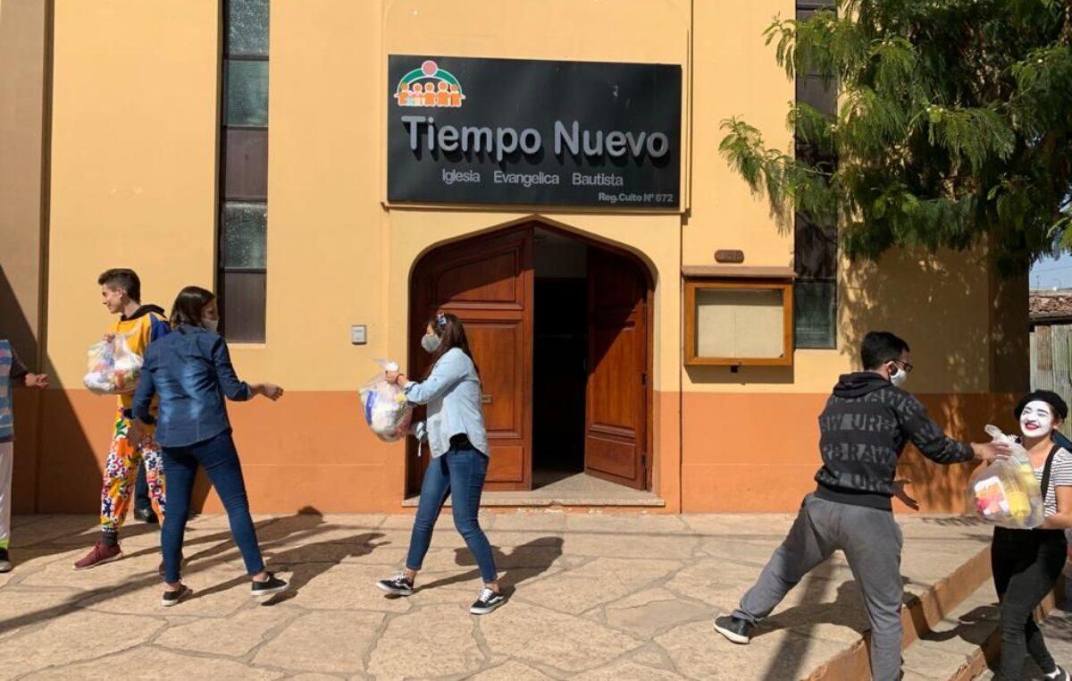 El Consejo Pastoral de Córdoba repartió  bolsones de mercadería