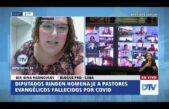 Diputada homenajeó a pastores evangélicos muertos por Covid 19