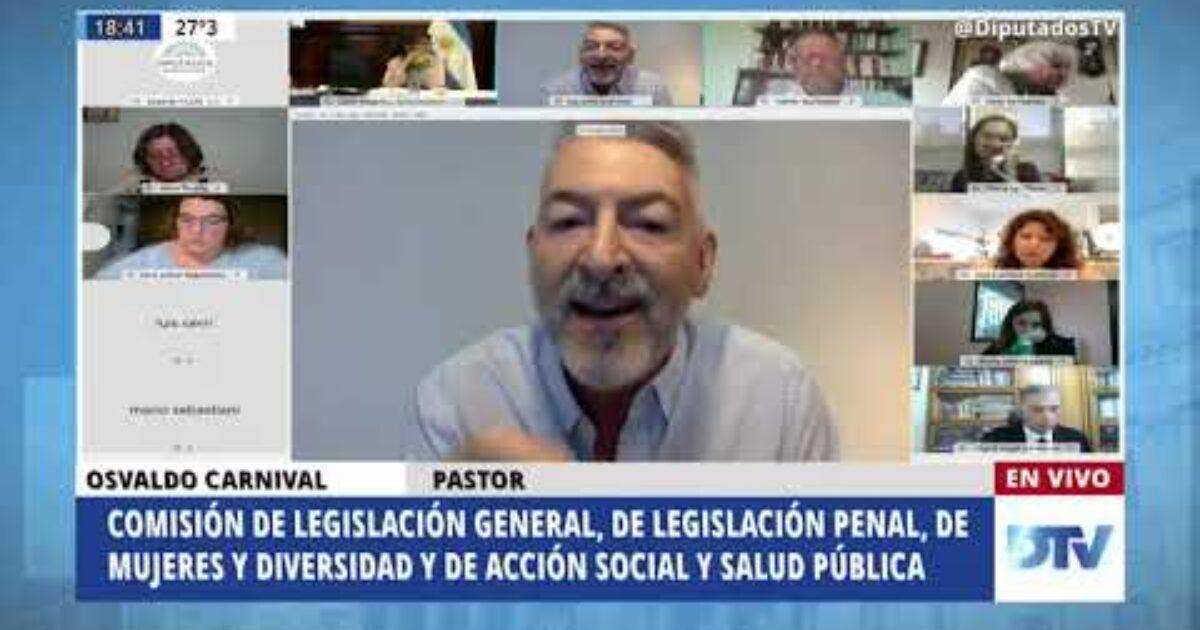 OSVALDO CARNIVAL EXPUSO EN DIPUTADOS EN EL DEBATE POR LA LEGALIZACIÓN DEL ABORTO