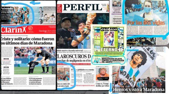 #LamayoríaCeleste fue tapa en varios diarios de Argentina