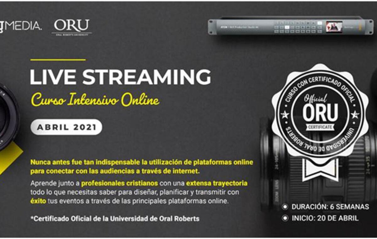 """""""LIVE STREAMING"""" Un curso online intensivo a su alcance."""