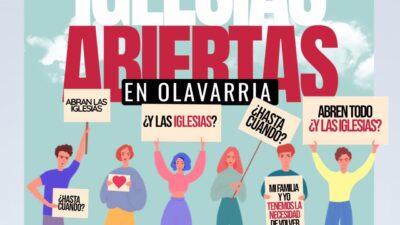 Olavarria: Fuerte reclamo de las Iglesias Evangélicas en las redes